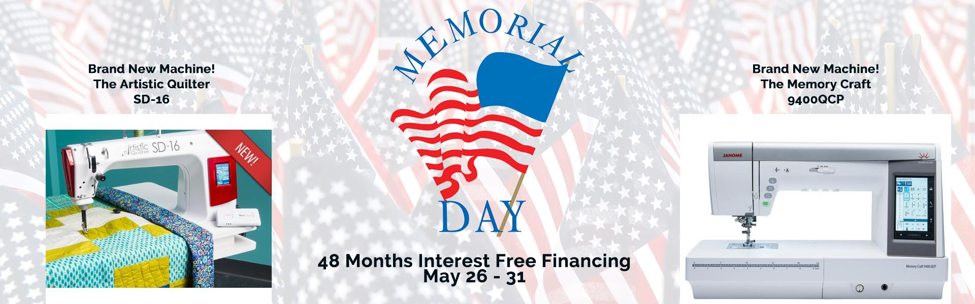 memorial day janome